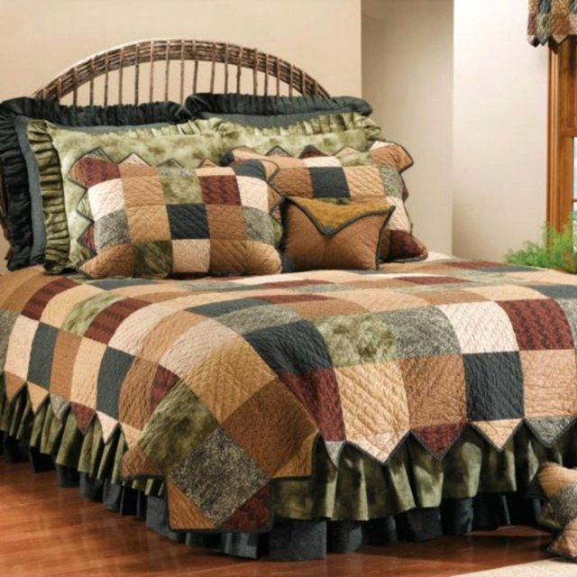 Earth patch quilt collection free gift card with purchase: cabin.