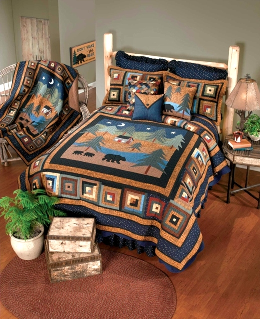 Midnight Bear Quilt Collection by Donna Sharp | Midnight Bear Donna Sharp | Donna Sharp | Donna Sharp Quilts Donna Sharp Quilts